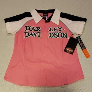 Harley Davidson Glittery Shop Shirt